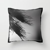 palm Throw Pillows featuring palm* by spysessionz