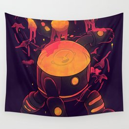Super Heroic Pose Wall Tapestry