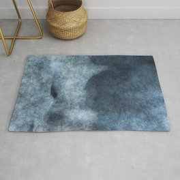 stained fantasy misty mountain Rug