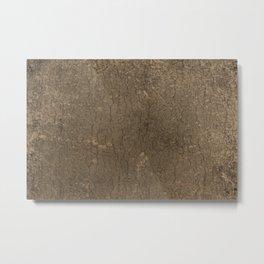 Rustic Tree Bark Pattern Metal Print