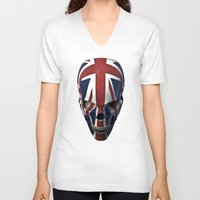 british flag V-neck T-shirts featuring British horror by GrandeDuc