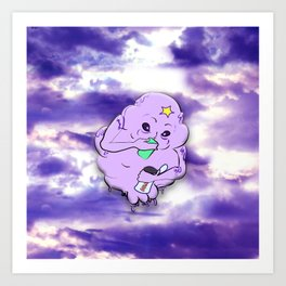 Meanwhile in Lumpy Space Art Print