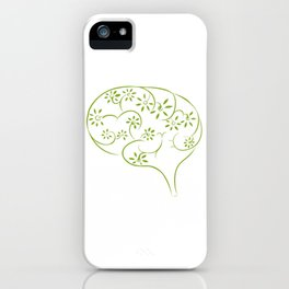 Abstract Green Brain iPhone Case