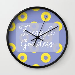 Fineapple Goddess Wall Clock