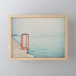 the orange steps ... Framed Mini Art Print