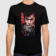 Tenth Doctor LARGE Mens Fitted Tee Black