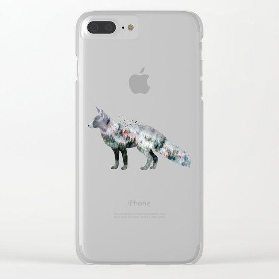 Fox X Clear iPhone Case