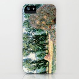 1885-Claude Monet-Haystacks-65 x 81 iPhone Case