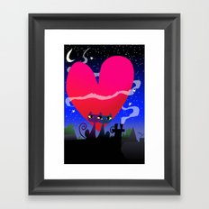 Valentines Cats Framed Art Print