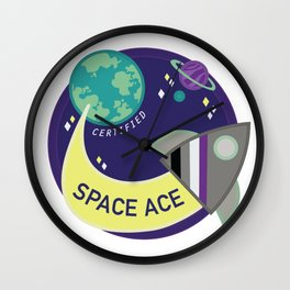 Certified Space Ace Wall Clock