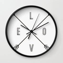 Love Compass Wall Clock