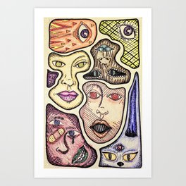 Faces From Different Places Art Print