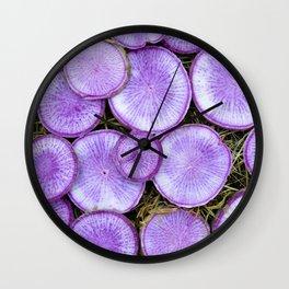 Purple Daikon Wall Clock