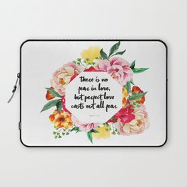 No Fear in Floral Laptop Sleeve
