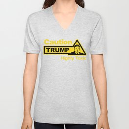 Caution - Trump Unisex V-Neck