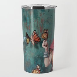 Frida Kahlo Butterfly Travel Mug