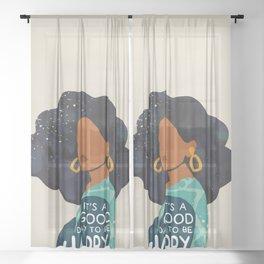 Be Happy Sheer Curtain