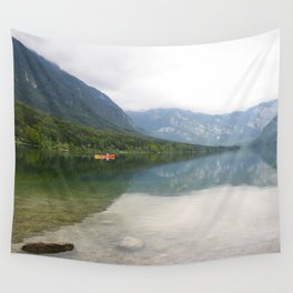 Kayaking on Lake Bohinj Wall Tapestry