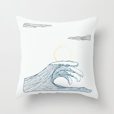ring of the waves Throw Pillow