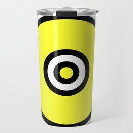 Yellow Black Circle Travel Mug