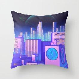 Space Shibuya Throw Pillow