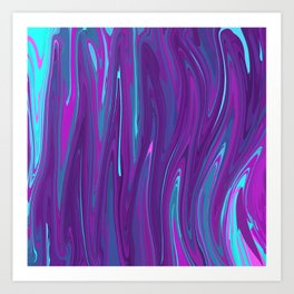 Pink, Purple, and Blue Waves 2 Art Print