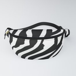 Monochrome Zebra Stripe Print Fanny Pack