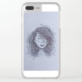 Messy Mind Clear iPhone Case