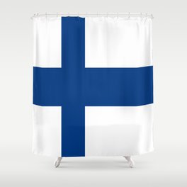 Flag of Finland 1 -finnish, Suomi, Sami,Finn,Helsinki,Tampere Shower Curtain