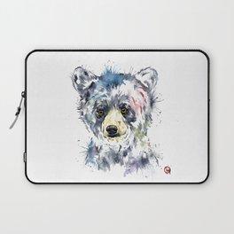 Baby Black Bear Watercolor Painting Laptop Sleeve