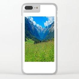 Bergwiese mit Talschluss Clear iPhone Case