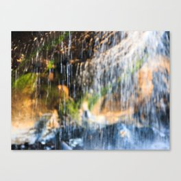 Trickle Waterfall at Otter Crest Beach, Oregon Canvas Print