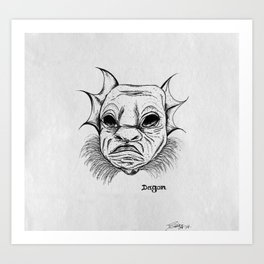 dagon. Art Print