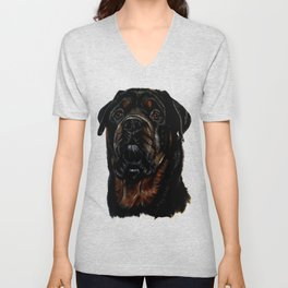 Male Rottweiler Unisex V-Neck