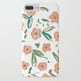 Live Simply Floral Pattern iPhone Case