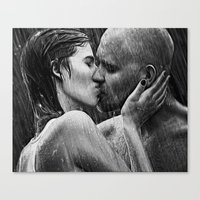 lovers Canvas Prints featuring lovers by Photoplace