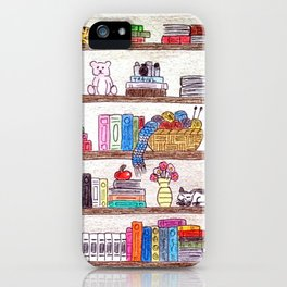 Colored booshelf! iPhone Case