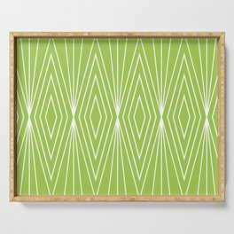 Simple Modern Diamond Lines Chartreuse Serving Tray