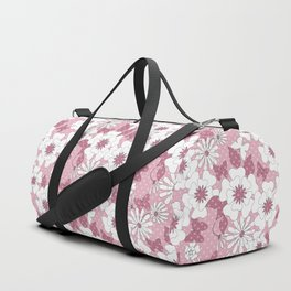 Delicate pink floral pattern. Duffle Bag