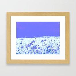 Ink Drop Blue Framed Art Print