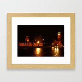 Big Ben - Night Lights Framed Art Print