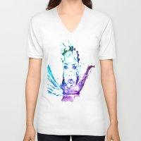 splash V-neck T-shirts featuring Splash by CLE.ArT.