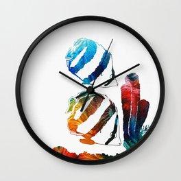 Angel Fish Art - Little Angels 2 - By Sharon Cummings Wall Clock