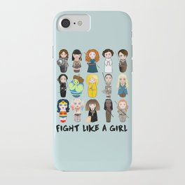 Kokeshis Fight like a girl iPhone Case
