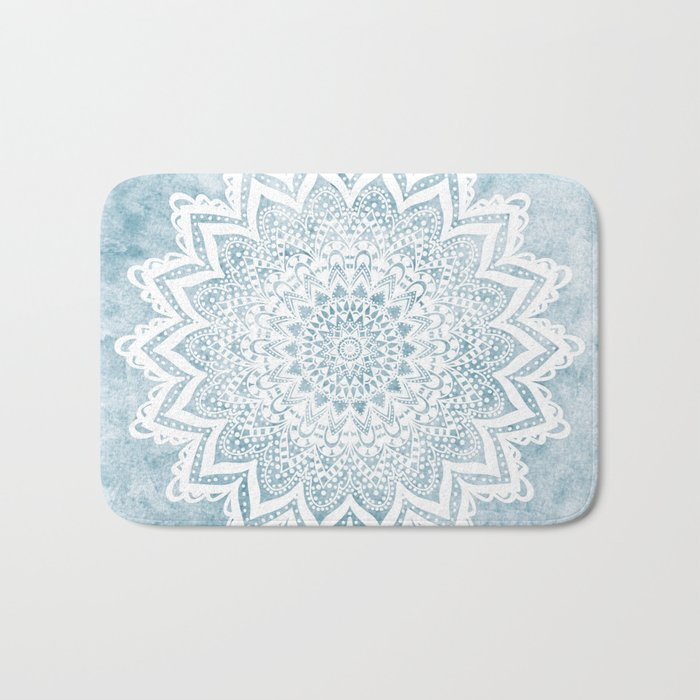 LIGHT BLUE MANDALA SAVANAH Badematte