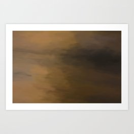 Abstract Beige and Brown to Black Shades.  Like painted on canvas. Art Print