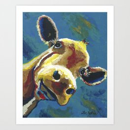 Cow Art, Colorful cow art print Art Print
