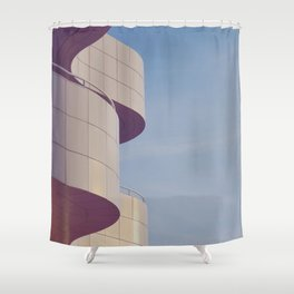 Structured Waves Shower Curtain