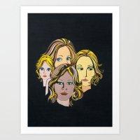 1970's Glam Art Art Print