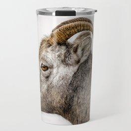 Bighorn Sheep in Jasper, Alberta Travel Mug